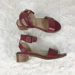 ANTHRO LIENDO Toledo Red Braided Heel Sandels 8